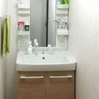 ゆったりと使える大型洗面器の洗面台「オフト」