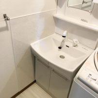 綺麗が続くサニタリーパネルで快適な洗面脱衣室